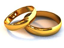 Wedding rings. There is a gold wedding rings Stock Photos