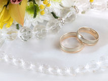 Wedding rings Stock Image