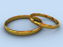 Wedding rings. There is a gold wedding rings Stock Photo