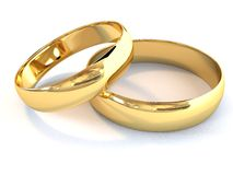 Wedding rings. There is a gold wedding rings Royalty Free Stock Photo