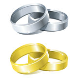 Wedding rings. Vector wedding rings (two colours Stock Image