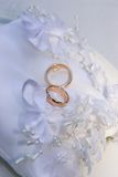 Wedding rings. On a pillow Royalty Free Stock Photo
