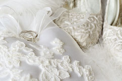 Wedding rings and accessories Stock Photography