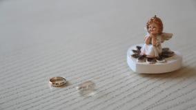 Wedding rings stock footage