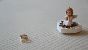 Wedding rings stock video