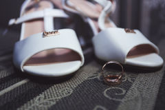 Wedding rings on the background Royalty Free Stock Photography
