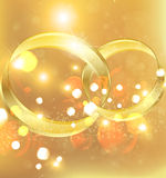 Wedding rings background Royalty Free Stock Photography