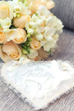 Wedding rings. With bouquet and accessories Royalty Free Stock Image