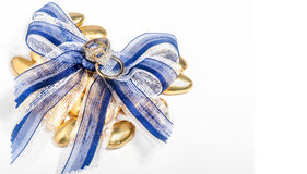 Wedding rings and bow Royalty Free Stock Image