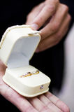 Wedding rings in a box Stock Photo