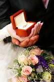 Wedding rings in a box Royalty Free Stock Photo