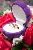 Wedding rings in a box Royalty Free Stock Images
