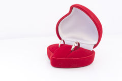 Wedding rings in a box Stock Photography