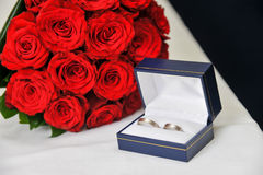 Wedding Rings in a Box Royalty Free Stock Photography