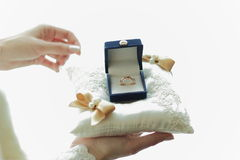 Wedding rings in the box, marriage Royalty Free Stock Photo