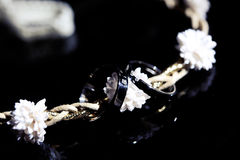 Wedding rings on a bride's chain Royalty Free Stock Photos