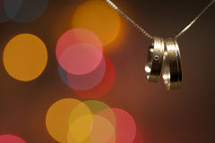 Wedding rings on a chain Royalty Free Stock Image