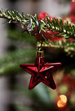 Wedding rings on Christmas ornament Stock Photography