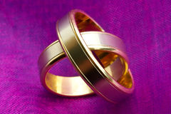 Wedding rings close up Royalty Free Stock Images