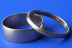 Wedding rings in close up Stock Images