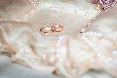 Wedding rings. Close up shot Royalty Free Stock Photo