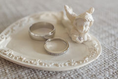Wedding rings close-up Royalty Free Stock Images