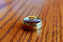 Wedding rings closeup pattern background. Stock Photography