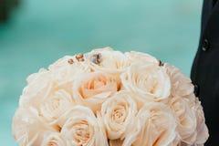 Wedding rings closeup pattern background. Stock Photo