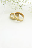 Wedding rings with copy space Royalty Free Stock Image