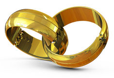 The wedding rings Royalty Free Stock Photography