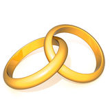 Wedding rings 3d illustration Royalty Free Stock Images