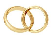 Wedding rings. 3D rendering Stock Image