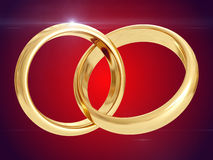 Wedding rings. 3D rendering Royalty Free Stock Photo