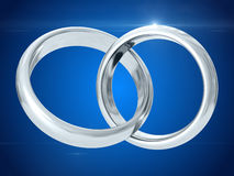 Wedding rings. 3D rendering Stock Photo