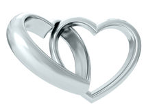Wedding rings. 3D rendering Royalty Free Stock Photos