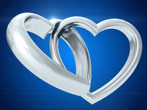 Wedding rings. 3D rendering Royalty Free Stock Images