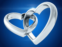 Wedding rings. 3D rendering Stock Photography