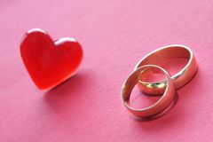 Wedding Rings Decoration Stock Photos