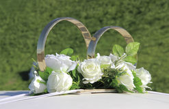 Wedding rings decoration Royalty Free Stock Photography