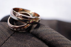 Wedding Rings detail Stock Photos