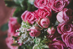 Wedding rings on flowers Royalty Free Stock Images