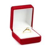 Wedding rings in a gift box Stock Photo