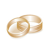 Wedding Rings Gold. Isolated on white Stock Photography