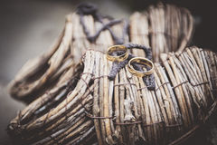 Wedding rings. Wedding gold rings for couples Stock Images