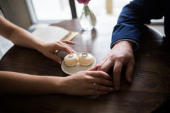 Wedding rings. Wedding, hand with wedding ring Royalty Free Stock Photo