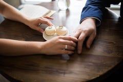 Wedding rings. Wedding, hand with wedding ring Stock Image