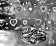 Wedding rings, happy and love Royalty Free Stock Images
