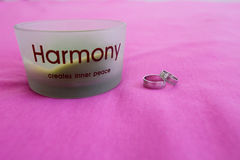 Wedding rings. Harmony. Royalty Free Stock Photo