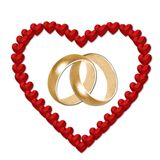 Wedding Rings in Heart Royalty Free Stock Images