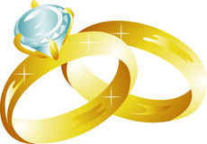 Wedding rings icon Royalty Free Stock Image